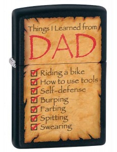 Zapalniczka Zippo Things Learned from Dad 28372