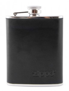 Piersiówka ZIPPO steel black leather 180ml 2005269